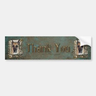 Thank You - Stone Paws - Great Dane - Dad Bumper Sticker