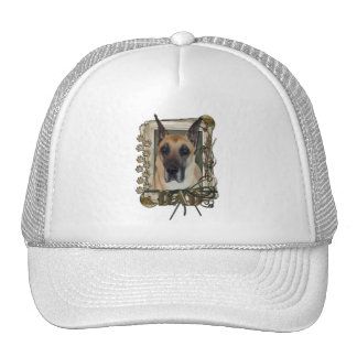 Thank You - Stone Paws - Great Dane - Dad Mesh Hats