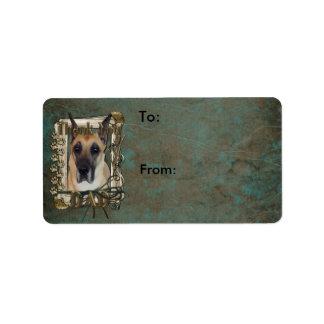 Thank You - Stone Paws - Great Dane - Dad Custom Address Label