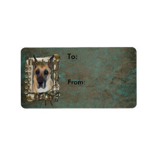 Thank You - Stone Paws - Great Dane - Dad Label