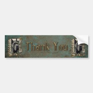 Thank You - Stone Paws - Great Dane - Grey - Dad Bumper Sticker