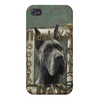 Thank You - Stone Paws - Great Dane - Grey - Dad iPhone 4/4S Cover