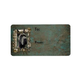 Thank You - Stone Paws - Great Dane - Grey - Dad Custom Address Labels