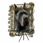 Thank You - Stone Paws - Great Dane - Grey Photo Cut Outs