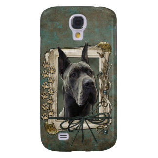 Thank You - Stone Paws - Great Dane - Grey Samsung Galaxy S4 Cover