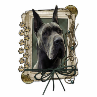 Thank You - Stone Paws - Great Dane - Grey Statuette
