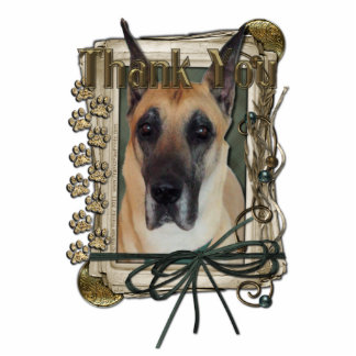 Thank You - Stone Paws - Great Dane Statuette