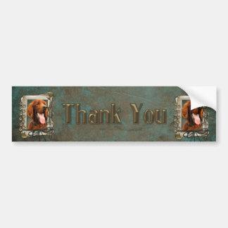 Thank You - Stone Paws - Irish Setter Bumper Sticker