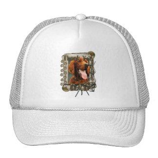 Thank You - Stone Paws - Irish Setter - Dad Mesh Hat