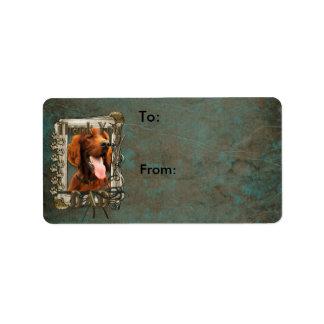 Thank You - Stone Paws - Irish Setter - Dad Custom Address Label