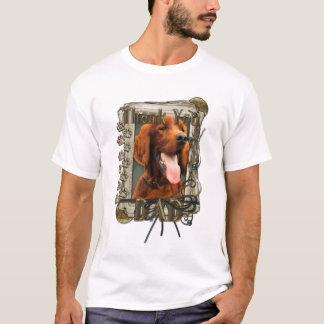 Thank You - Stone Paws - Irish Setter - Dad T-Shirt