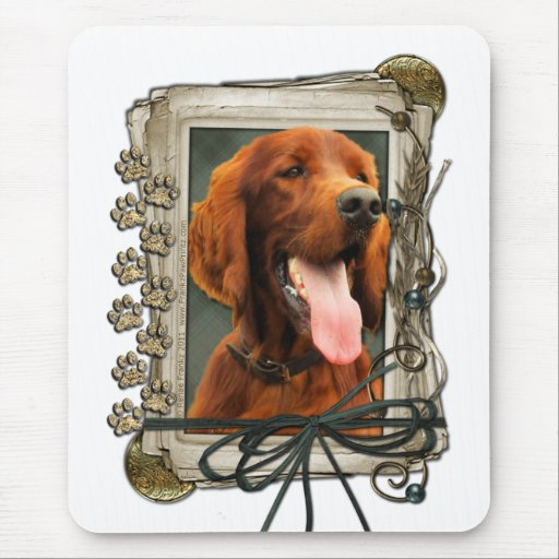 Thank You - Stone Paws - Irish Setter Mouse Pads
