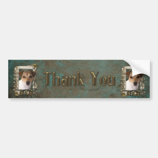 Thank You - Stone Paws - Jack Russell - Dad Bumper Sticker