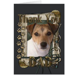 Thank You - Stone Paws - Jack Russell - Dad Greeting Card