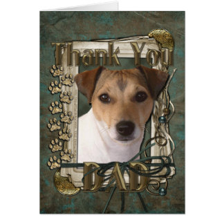 Thank You - Stone Paws - Jack Russell - Dad Card