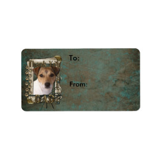 Thank You - Stone Paws - Jack Russell - Dad Address Label