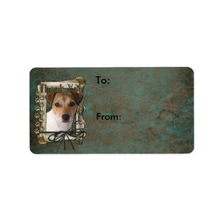 Thank You - Stone Paws - Jack Russell Address Label