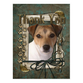 Thank You - Stone Paws - Jack Russell Postcard