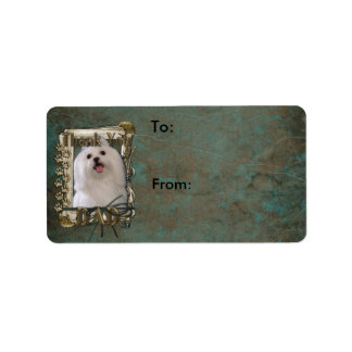 Thank You - Stone Paws - Maltese - Dad Personalized Address Label