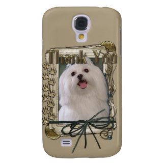Thank You - Stone Paws - Maltese Galaxy S4 Case