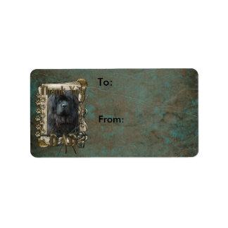 Thank You - Stone Paws - Newfoundland - Dad Custom Address Label
