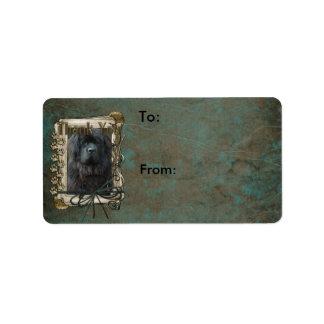 Thank You - Stone Paws - Newfoundland Address Label