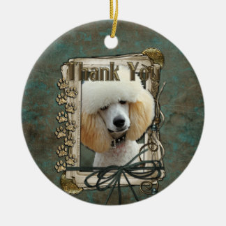 Thank You - Stone Paws - Poodle - Apricot Ceramic Ornament