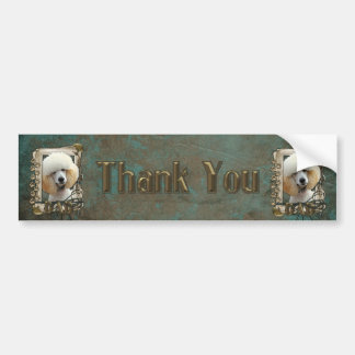 Thank You - Stone Paws - Poodle - Apricot - Dad Bumper Sticker
