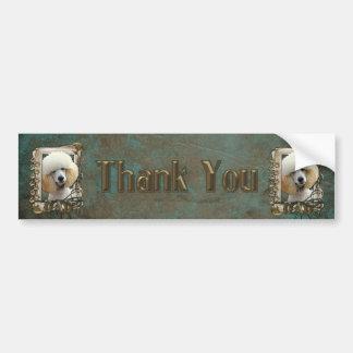 Thank You - Stone Paws - Poodle - Apricot - Dad Bumper Sticker