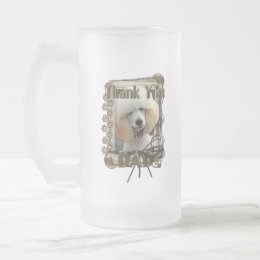 Thank You - Stone Paws - Poodle - Apricot - Dad Frosted Glass Beer Mug