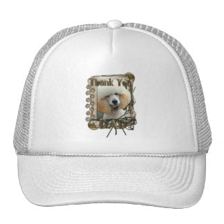 Thank You - Stone Paws - Poodle - Apricot - Dad Mesh Hat