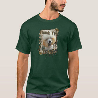Thank You - Stone Paws - Poodle - Apricot - Dad T-Shirt