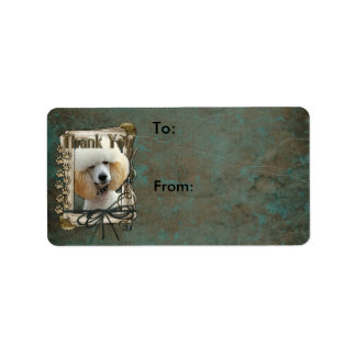 Thank You - Stone Paws - Poodle - Apricot Personalized Address Label