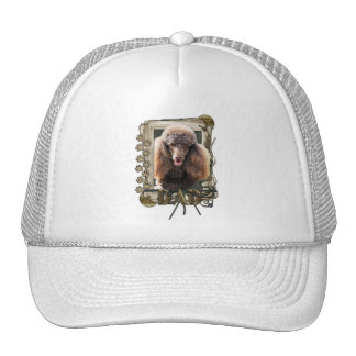 Thank You - Stone Paws - Poodle - Chocolate - Dad Trucker Hats