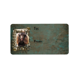 Thank You - Stone Paws - Poodle - Chocolate - Dad Label