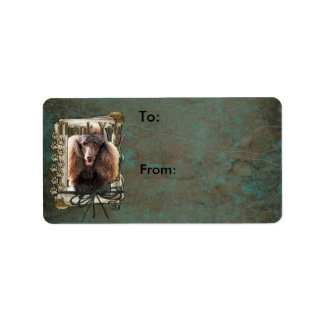 Thank You - Stone Paws - Poodle - Chocolate Label