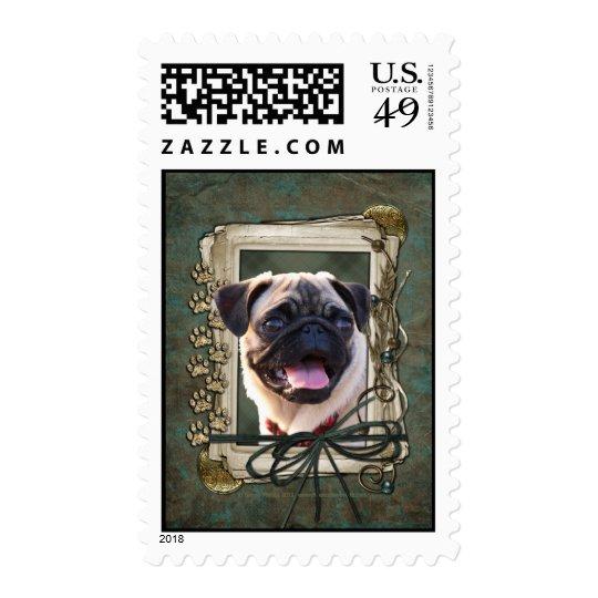 Thank You - Stone Paws - Pug Postage