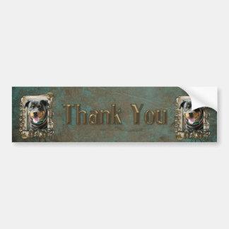 Thank You - Stone Paws - Rottweiler SambaParTi Dad Bumper Sticker