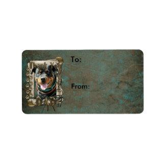 Thank You - Stone Paws - Rottweiler SambaParTi Dad Custom Address Labels