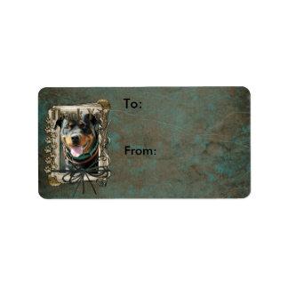 Thank You - Stone Paws - Rottweiler - SambaParTi Label