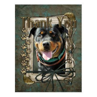 Thank You - Stone Paws - Rottweiler - SambaParTi Postcards
