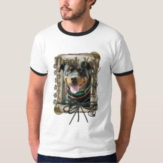 Thank You - Stone Paws - Rottweiler - SambaParTi T-Shirt