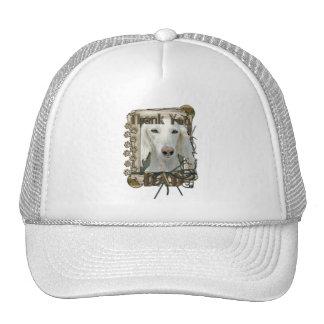 Thank You - Stone Paws - Saluki - Dad Trucker Hats