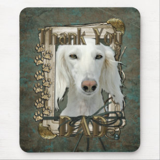 Thank You - Stone Paws - Saluki - Dad Mouse Pad