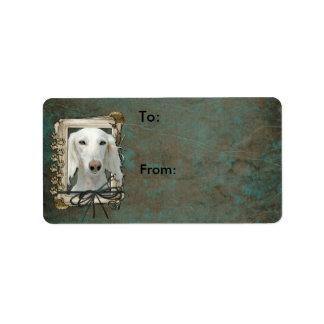 Thank You - Stone Paws - Saluki Personalized Address Labels