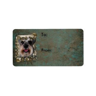 Thank you - Stone Paws - Schnauzer - Dad Custom Address Labels