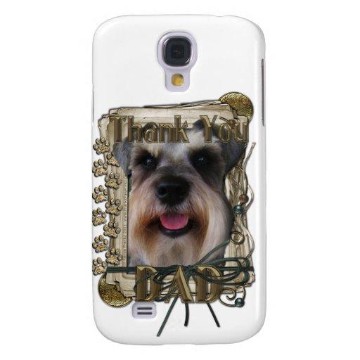 Thank you - Stone Paws - Schnauzer - Dad Samsung Galaxy S4 Cases