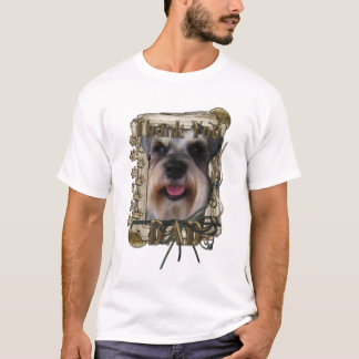 Thank you - Stone Paws - Schnauzer - Dad T-Shirt