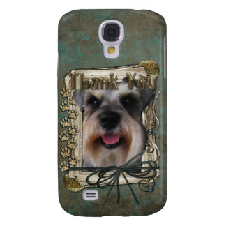 Thank You - Stone Paws - Schnauzer Samsung Galaxy S4 Cover