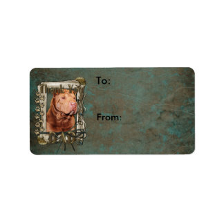 Thank You - Stone Paws - Shar Pei - Lucky - Dad Label